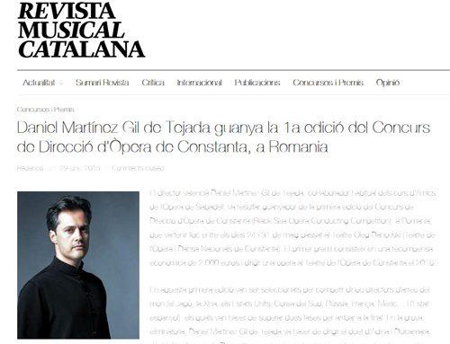 Daniel Martínez Gil de Tejada guanya la 1a edició del Concurs de Direcció d'Òpera de Constanta, a Romania