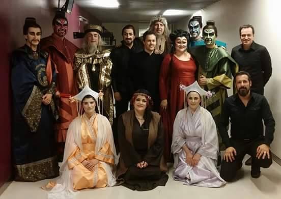 Turandot Mayo del 2015. Con todo el cast.