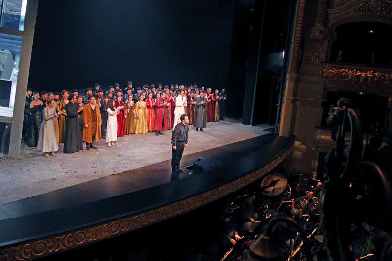 Lucia di Lammermoor - Saludando en el Gran Teatre del Liceu