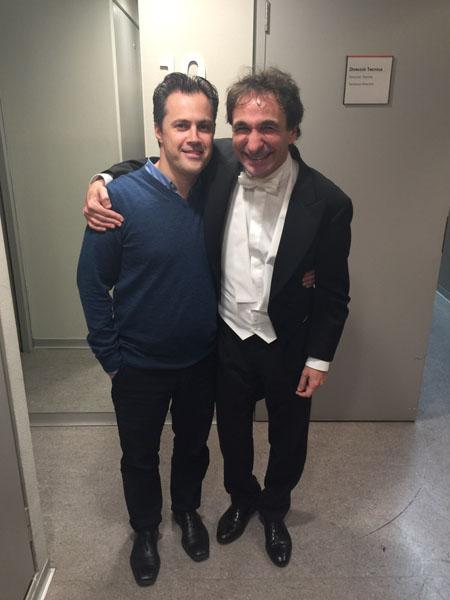 Con el director de orquesta Marco Armiliato